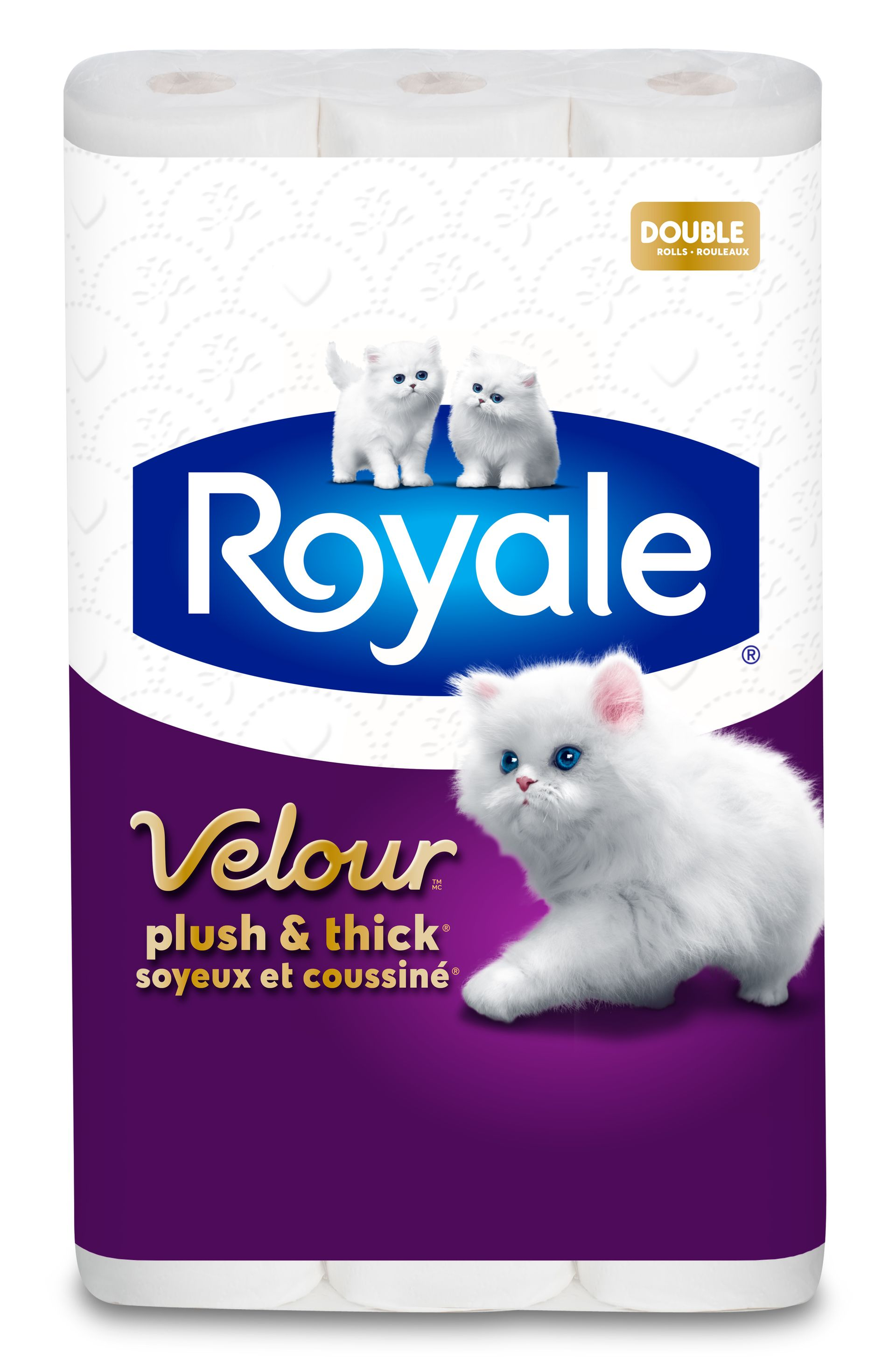 ROYALE® Velour®, rouleaux doubles pack