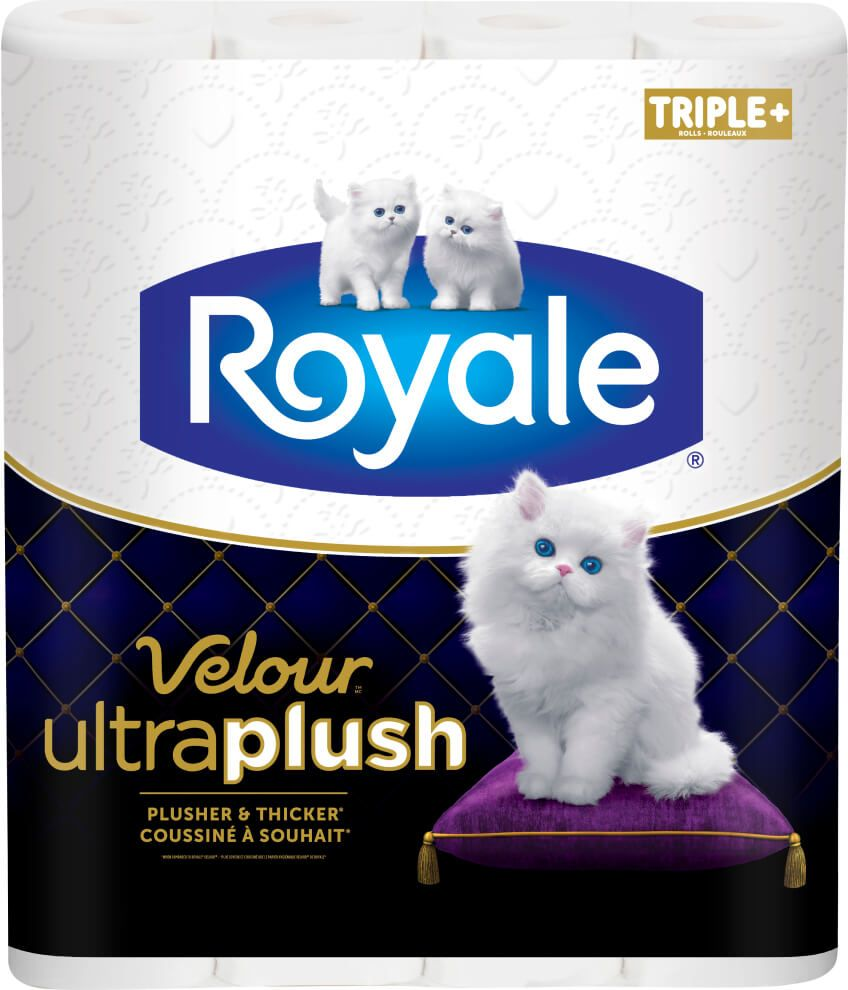Velour Ultra Plush rouleaux triples plus pack