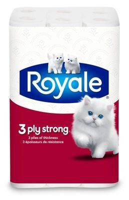 ROYALE® 3‑Ply Strong Double Bathroom Tissue