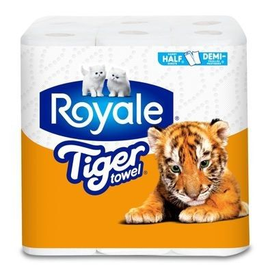 ROYALE® Tiger Towel® Regular Rolls: Handy Half Sheets®