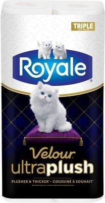 ROYALE Velour Ultra PlushTM/MC, rouleaux triples