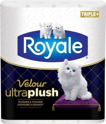 ROYALE Velour Ultra PlushTM/MC, rouleaux triples plus