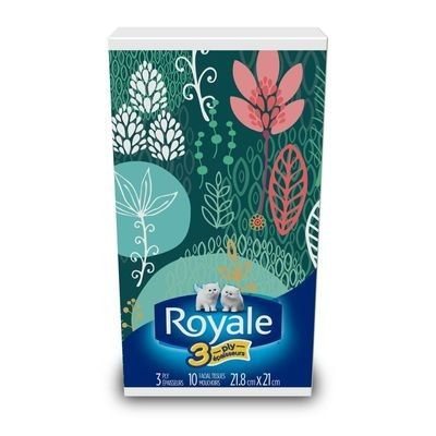 Mouchoirs ROYALE® à 3 épaisseurs, format poche