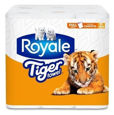 ROYALE® Tiger Towel® Big Rolls: Full Sheets
