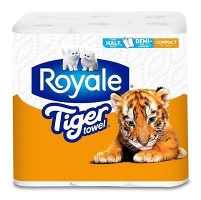 ROYALE® Tiger Towel® Compact Rolls: Handy Half Sheets®