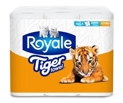 ROYALE® Tiger Towel® Handy Half Sheets® Double Rolls