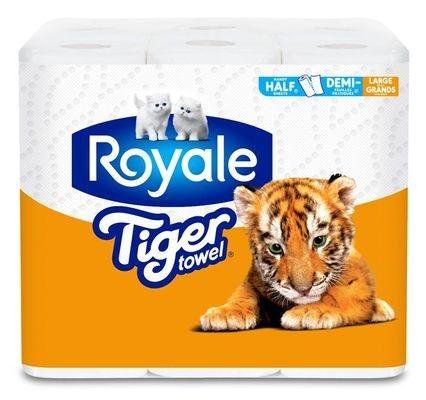 ROYALE® Tiger Towel® Handy Half Sheets® Large Rolls